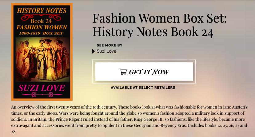 HN_24_D2D Fashion Women 1800-1819  Box Set https://books2read.com/SuziLoveFashionWomenBoxSet